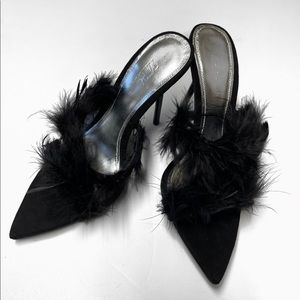 ZARA BLUE COLLECTION LEATHER HEEL